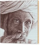 Old Indian Man Wood Print