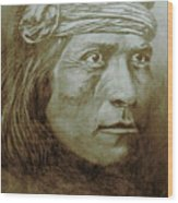 Old Indian Reference Wood Print