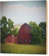Old Indiana Barn Wood Print by Joyce Kimble Smith