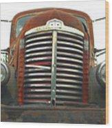Old International Gravel Truck Wood Print by Randy Harris