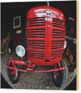 Old International Harvester Tractor Wood Print