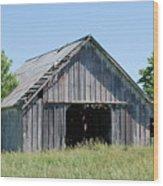 Old Iowa Barn Wood Print