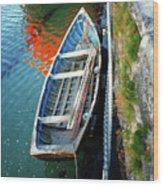 Old Irish Boat Wood Print
