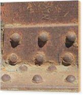 Old Iron Hinges Wood Print