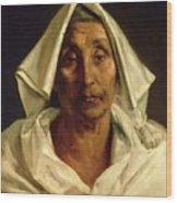 Old Italian Peasant Wood Print