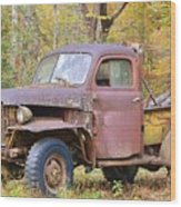 Old Jalopy Wood Print