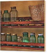 Old Jars Wood Print by Lana Trussell