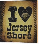 Old Jersey Shore Wood Print