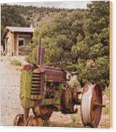 Old John Deer Tractor Wood Print