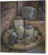 Old Jugs Color - Dsc08891 Wood Print