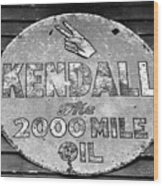 Old Kendal Sign Wood Print