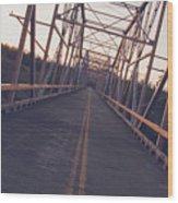 Old Knik Bridge 3 Wood Print