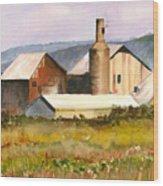 Old Koloa Sugar Mill Wood Print