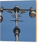 Old Lamppost Wood Print