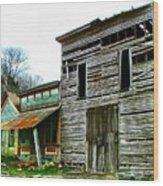 Old Leavenworth Indiana Ghost Town II Wood Print