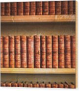 Old Library Wood Print