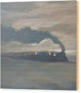 Old Locomotive Steam Train Wood Print