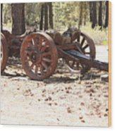 Old Logging Wagon Wood Print