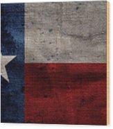 Old Lone Star Flag Wood Print