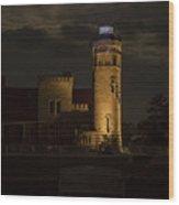 Old Mackinac Point Light, Mackinaw City Mi Wood Print