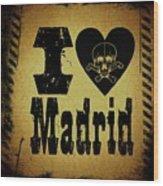 Old Madrid Wood Print