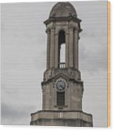 Old Main From Front Clock Wood Print