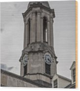 Old Main Penn State Clock  Wood Print