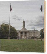Old Main Penn State Wide Shot  Wood Print