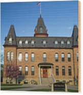 Old Main Spring Evening Wood Print