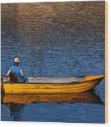 Old Man And His Boat Wood Print