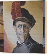 Old Man In Military Costume Wood Print