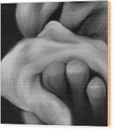 Old Man Kisses Hand Wood Print