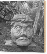 Old Man Of Copan Sculpture, Also Known As The Pauahtun Head From Wood Print