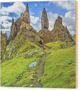 Old Man Of Storr Pinnacles Wood Print