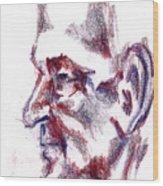 Old Man Profile  Wood Print