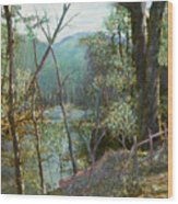 Old Man River Wood Print