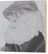 Old Man With Beard Wood Print