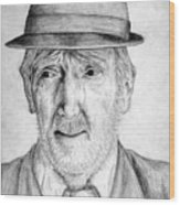 Old Man With Hat Wood Print