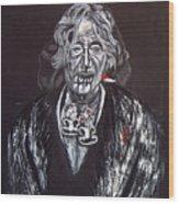 Old Maori Wahine Wood Print