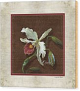 Old Masters Reimagined - Cattleya Orchid Wood Print