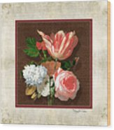 Old Masters Reimagined - Parrot Tulip Wood Print