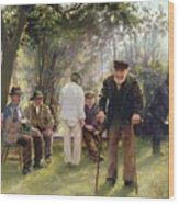 Old Men In Rockingham Park Wood Print