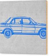 Old Mercedes Benz Wood Print