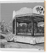 Old Mesilla Plaza And Gazebo Wood Print by Jack Pumphrey