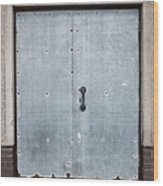 Old Metal Door Wood Print