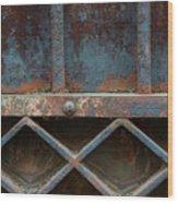 Old Metal Gate Detail Wood Print