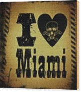 Old Miami Wood Print