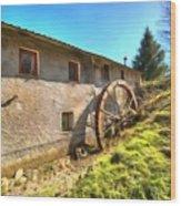 Old Mill - Antico Mulino Wood Print