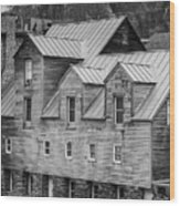 Old Mill Buildings Wood Print