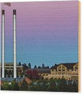 Old Mill District - Bend, Oregon Wood Print